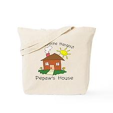 Favorite Hangout Pepaw's Hous Tote Bag