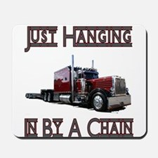 Just Hanging By A Chain Mousepad