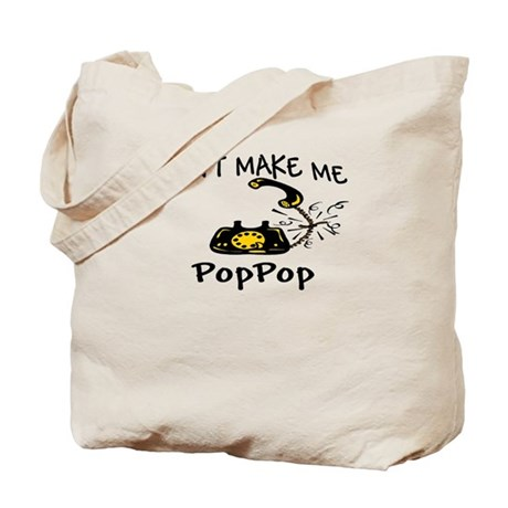 Call PopPop with Black Phone Tote Bag