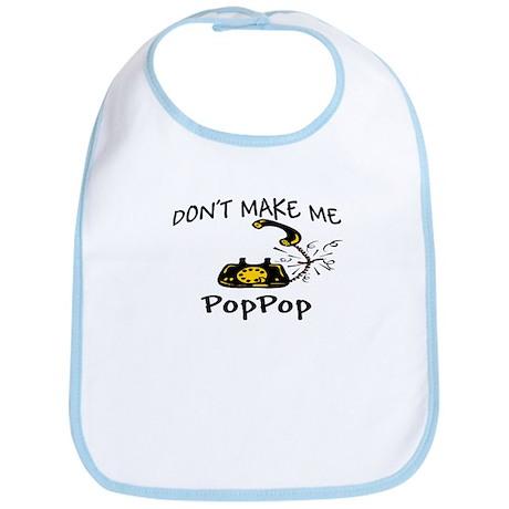 Call PopPop with Black Phone Bib