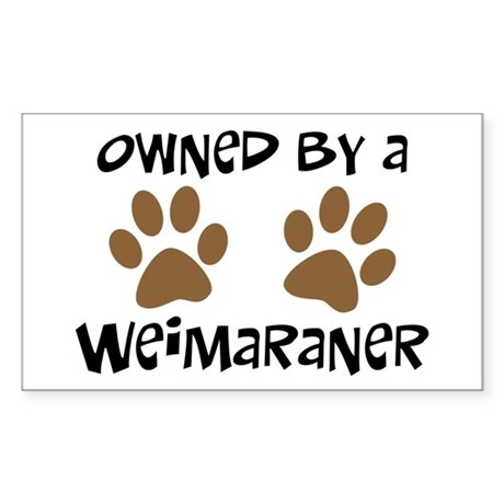 Owned By A Weim... Rectangle Sticker