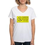 Static Cling Women's V-Neck T-Shirt