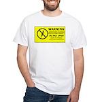 Static Cling White T-Shirt