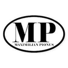 MP Abbreviated Maximilian Pionus Oval Decal