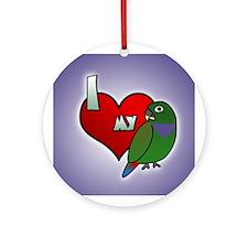Love Maximilian Pionus Ornament (Round)