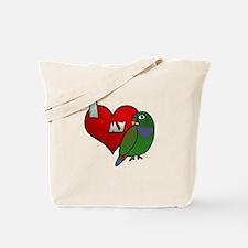 Love Maximilian Pionus Tote Bag
