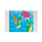 Jeweled Hummingbird Rectangle Magnet (10 pack)