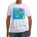 Jeweled Hummingbird Fitted T-Shirt