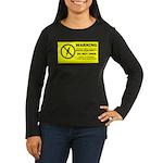 Static Cling Women's Long Sleeve Dark T-Shirt
