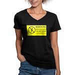 Static Cling Women's V-Neck Dark T-Shirt