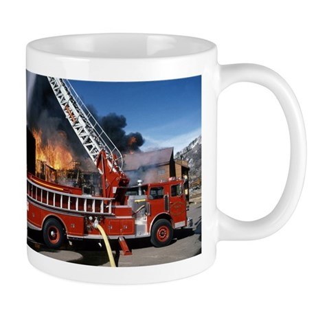 Fire Truck in Action Mug