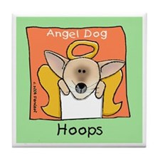 Chihuahua Angel Dog Memorial Hoops Tile Coaster