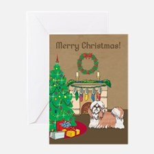 Shih Tzu Merry Christmas Greeting Card