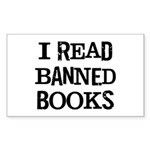 I Read Books Sticker (Rectangle)