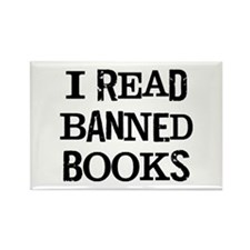 I Read Books Rectangle Magnet