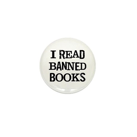 I Read Books Mini Button