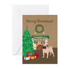 Pug Merry Christmas Greeting Cards (Pk of 20)