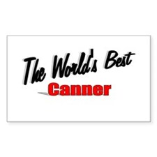"""The World's Best Canner"" Rectangle Decal"