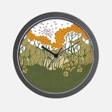 Arts and Crafts Trees Wall Clock