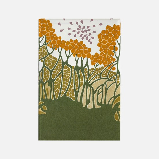 Arts and Crafts Trees Rectangle Magnet