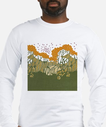 Arts and Crafts Trees Long Sleeve T-Shirt