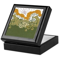 Arts and Crafts Trees Keepsake Box