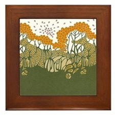 Arts and Crafts Trees Framed Tile