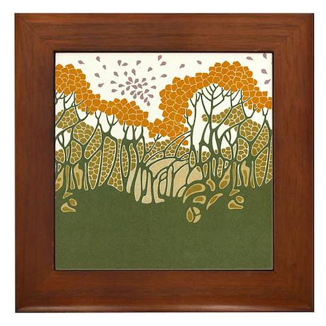 Arts and Crafts Trees Framed Tile