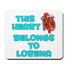 This Heart: Lorena (B) Mousepad