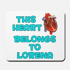 This Heart: Lorena (B) Mousepad