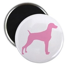 "Pink Weimaraner 2.25"" Magnet (10 pack)"