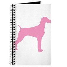 Pink Weimaraner Journal