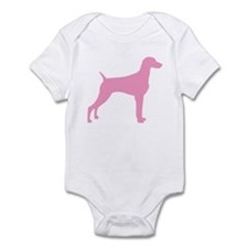 Pink Weimaraner Infant Bodysuit