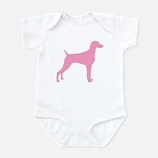 Pink Weimaraner Infant Bodysuit