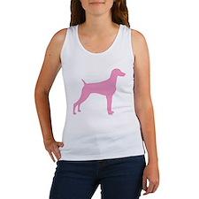 Pink Weimaraner Women's Tank Top