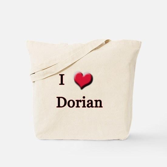 I Love (Heart) Dorian Tote Bag