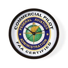 FAA Certified Commercial Pilot Wall Clock