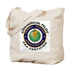 FAA Certified Commercial Pilot Tote Bag