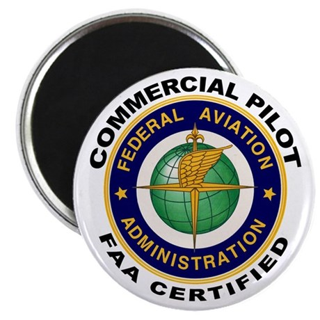 """FAA Certified Commercial Pilot 2.25"""" Magnet (10 pa"""