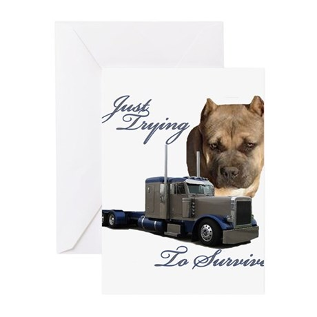 Just Trying To Survive Greeting Cards (Pk of 10)