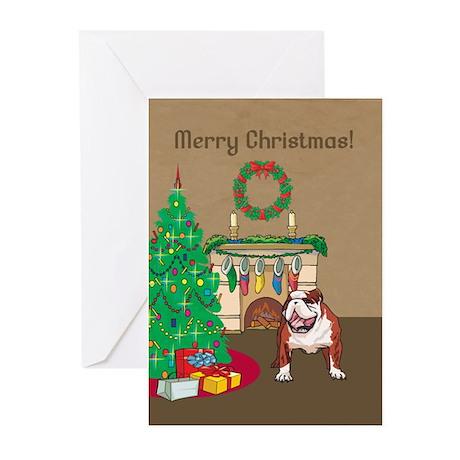 Bulldog Merry Christmas Greeting Cards (Pk of 20)