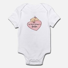 Heart Belongs to YiaYia Infant Bodysuit