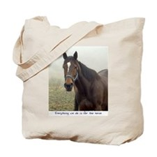 Cute Second chance ranch equine rescue Tote Bag