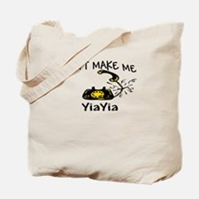 Call YiaYia with Black Phone Tote Bag