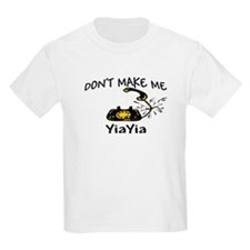 Call YiaYia with Black Phone T-Shirt