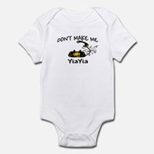 Call YiaYia with Black Phone Infant Bodysuit