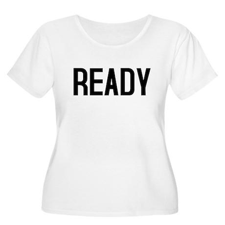 Ready Women's Plus Size Scoop Neck T-Shirt