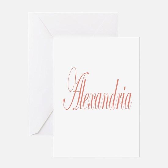Cursive Alexandria Greeting Card