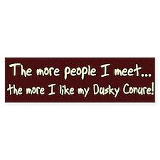 More People Dusky Conure Bumper Bumper Sticker