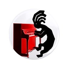 "Kokopelli Piano 3.5"" Button"